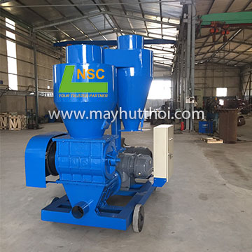 Pneumatic conveyor for paddy husk intalled in food company located in Hochiminh city, Vietnam