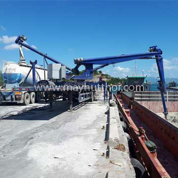 Ship unloader for cement
